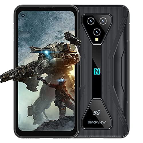 "5G Gaming Telephone Incassable, Blackview® BL5000 Android 11 Smartphone Incassable(8Go+128Go, MTK Dimensity 700, Écran Perforé 6.36"" FHD+, 16MP+12MP, 4980mAh/30W, Double SIM+5G WIFI)NFC/IP69/OTG-Noir"