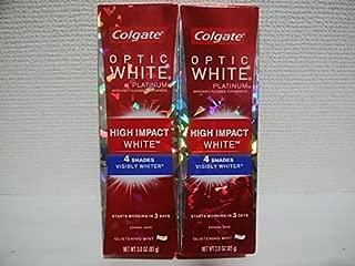 Colgate Optic White High Impact White 3oz 85g 歯磨き粉 2個セット [並行輸入品]
