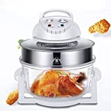 Air Fryer12L/17L Turbo Air Fryer Convection Oven Roaster Electric Cooker Oil-less Multifunction Infrared, Includes Recipe Book (17L)