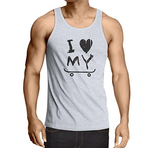 lepni.me Singlete Je Aime Patinage T-Shirt (XX-Large Blanc Noir)