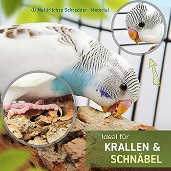 2 perchoir perroquet de liège naturel pour grignoter | jouet interactif pour des oiseaux en bonne santé