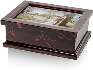 モダン4x 6写真フレームMusical Jewelry Box withフローラルモチーフ 447. You Are the Sunshine of My Life MBA-MB10-PF-FL