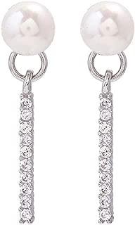 Lindo Elegante Brillantes Hueco brillante estrella cuelgan pendientes de plata esterlina 925