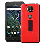 Phone Case for Motorola Moto G5 Plus with Finger Strap,Soft Silicone Ultra Thin Anti-Slip Elastic Band Soft TPU Back Phone Cover Protective Holder Shockproof Full Body Protection for MotoG5+ Red