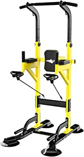 Pull Up Station, Dip Bar Station Power Tower Multi Gym Pull Up Frame Dip Bars Free Standing, Adjustable Height, Load 450kg...