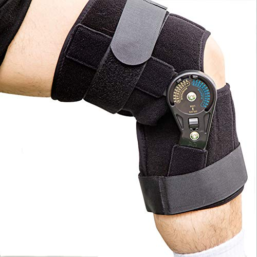 MOXIN Open Knee Support, Sports Knee Support Hinged, Brace Best Adjustable for ACL, Stability Joint, Arthritic Knee, Sports Injury Recovery & Protection,L