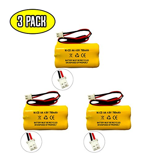 All Fit E1021R EJW-NICAD NIC0991 Dantona Custom 145-10 4.8v 650mAh 800mAh Lithonia D-AA650BX4 BYD D-AA650BX4 DAYBRIGHT D-AA650BX4SQ Interstate NIC1117 Exit Sign Emergency Light Battery Replacement