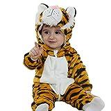 Doladola Unisexe bébé Barboteuse Animal Flanelle Onesie Pyjama Ensemble de Pyjama Dors...