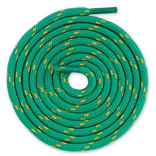Lacenio Sznurowadła okrągłe sznurowadła do butów sportowych, buty robocze, łyżwy zapasowe, do butów trekkingowych, zielono-żółte, 100 cm