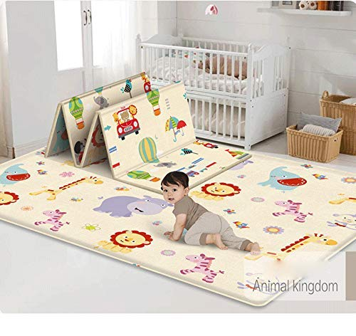 Baby Play MatPortable Folding Baby Extra Large Crawling Mat Waterproof Blanket Playmat for InfantsBabiesToddlers and Kids