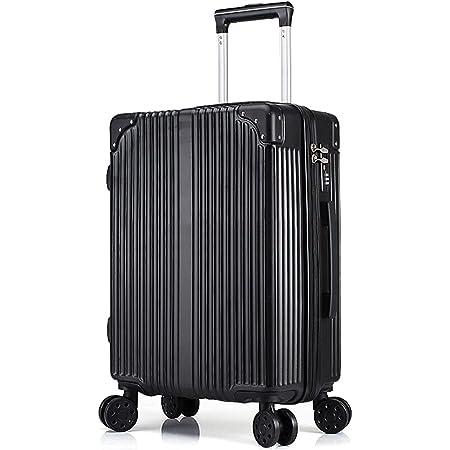 「親子セット」機内持込キャリーバッグ キャリーケース スーツケース 化粧ケース ミニトランク ビジネスキャリーバッグ TSAダイヤル式ロック搭載 機内持込 ((本体のみ、miniケースなし)ブラック, S)