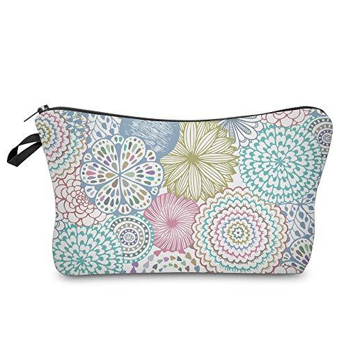 Cosmetic Bag for Women,Deanfun Mandala Flowers Waterproof Makeup Bags Roomy Toiletry Pouch Travel Accessories