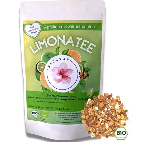 NAROMA Limonatee - BIO Apfeltee lose mit Zitrusfrüchten - kalt & heiß -Ohne Zuckerzusatz & künstliche Aromen- Sommer Tee