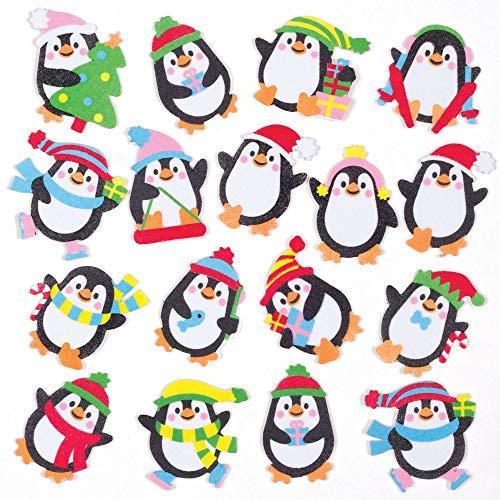 Baker Ross Pinguin Moosgummi Aufkleber (120 Stück) Basteln zu Weihnachten für Kinder