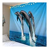 Jue Animal Tapiz Psychedelic Océano Ballena Arte Colgar de la Pared for el Dormitorio Living Dormitorio Tapices zxy (Color : A, Size : 200 * 150cm)