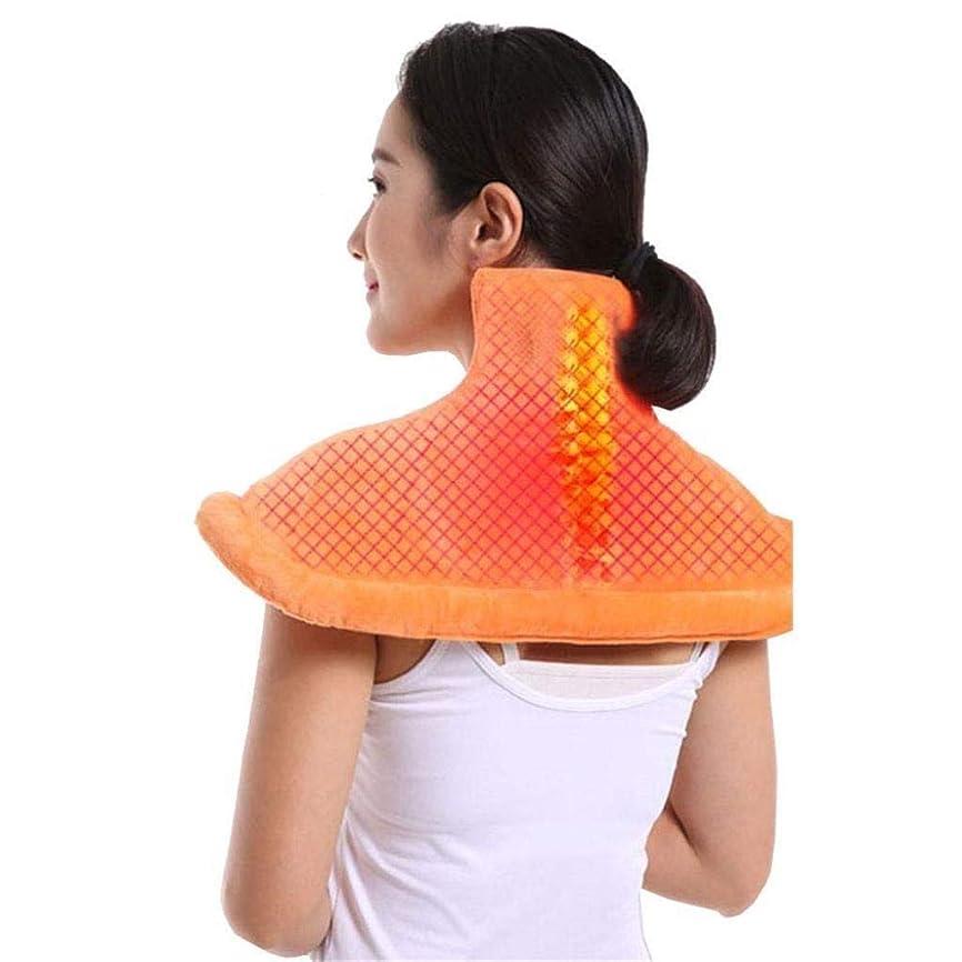 花輪書誌アクセント首のマッサージャー、電熱パッド、首と肩と背中の痛みを和らげるツール、ストレス緩和筋肉温熱療法パッド