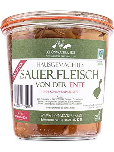 Sauerfleisch von der Ente süß-sauer aus Bäuerlicher Freilandhaltung - vom Schönmoorer Hof aus Schleswig-Holstein