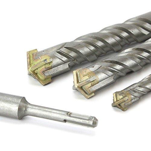 30 mm x 260 mm dwarsdoorsnede TCT SDS Plus hamer boor. Baksteen metselwerk beton