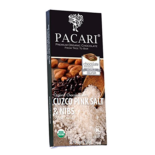 PACARI Feinherbe Bio-Schokolade mit Salz und Kakaobohnensplittern