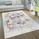 Alfombra Exterior Interior Terraza Cocina Vintage Pastel Motivos Abstractos, tamaño:160x230 cm, Color:Multicolor 4