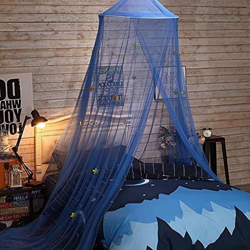 Étoile Galaxy Lit à baldaquin moustiquaire for Lit for enfant Rideaux Conique Kids Play Tente avec les étoiles for garçons et filles, Bleu
