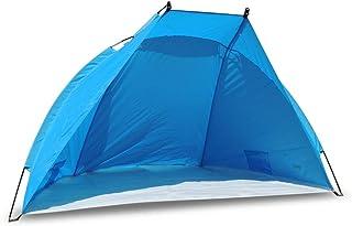 comprar comparacion outdoorer Tienda de Playa Helios, Azul, protección UV de 80, Ultraligero, tamaño Plegado Muy Compacto