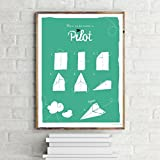 Close Up How to Become A Pilot Poster/Kunstdruck Origami