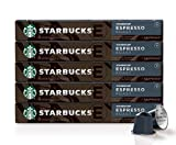 Starbucks by Nespresso, Espresso Dark Roast (50-count single serve capsules, compatible with...