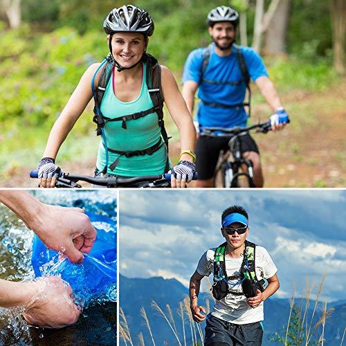 Aonijie-Tragbare 1/1.5/2/3 Liter Trinkblase/Wasserbeutel/Wasserblase für Wanderung, Sport, Radfahren, Jogging, Bergsteigen (2L) - 7