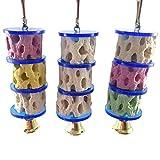 KeandYaoYao Kauspielzeug für Papageien, Eichhörnchen, Hamster, Zähne, Schleifsteine, Nager, Kauspielzeug, zufällige Farbe