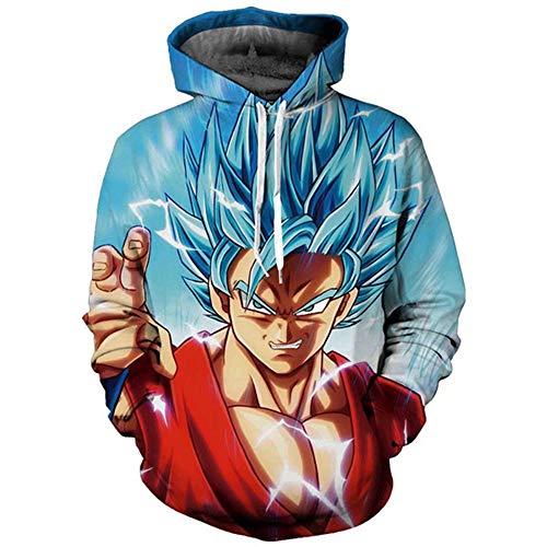 Goku Super Saiyan Blue Hoodie Sweatshirts 30 Asian M