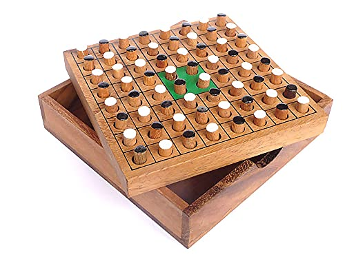 Logica Juegos Art. Othello - Juego De Mesa de Madera Preciosa - Juego de Estrategia para 2 Jugadores - Version de Viaje