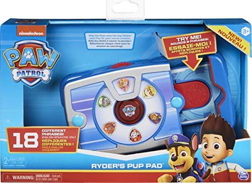 PAW Patrol Ryders interaktives Paw Pad mit 18 Geräuschen und Sätzen, für Kinder ab 3 Jahren