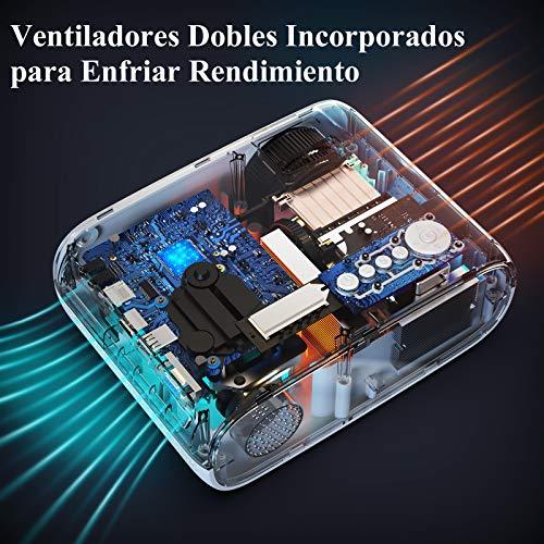 "Proyector WiFi Bluetooth, WiMiUS 6000 Lúmenes Proyector Portátil Soporta Full HD 1080P Zoom 75% Mini Proyector WiFi Proyector, 250"" Proyector Cine Casa para iOS/Android/TV Stick/PS4/PC HDMI AV VGA USB"