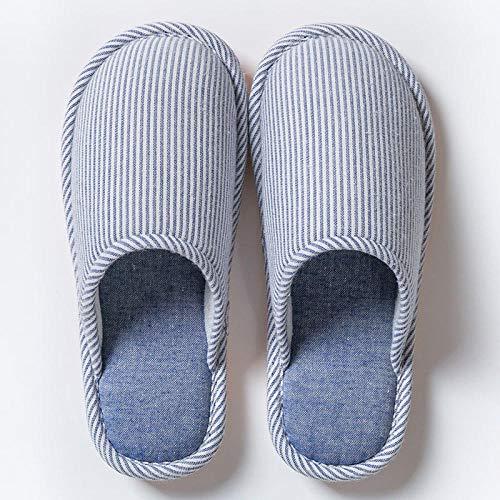 Slippers Caliente Pantuflas Antideslizantes,Pantuflas de algodón Antideslizantes para el hogar, Pantuflas cálidas de Suela Gruesa para Parejas-Azul Claro_42-43,Pantuflas Ultra