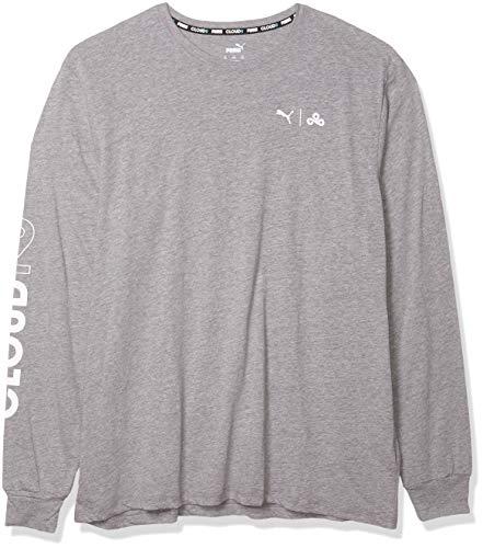 PUMA Esports T-Shirt à Manches Longues x CLOUD9 Level Up pour Homme Taille XXXL Gris Moyen chiné