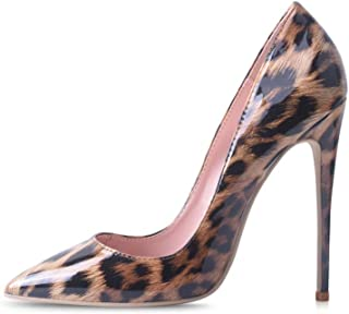 Women Pumps, Pointed Toe High Heel 4.7 inch/12cm Party Stiletto Heels Shoes