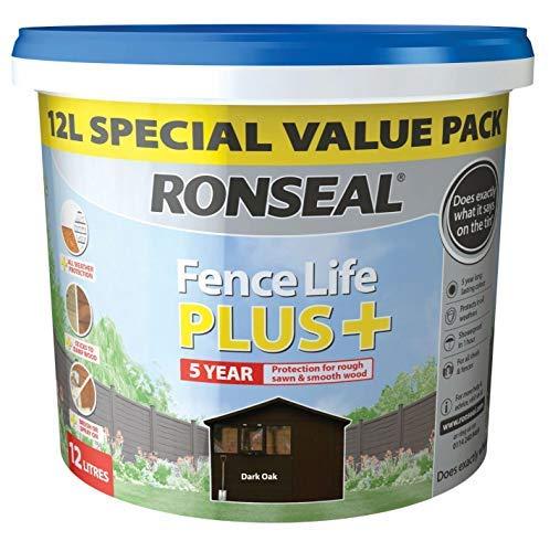 Ronseal Fence Life Plus Dark Oak 12L Special Value Fence Paint