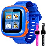 GBD Game Smart Watch for Kids Girls Boys Student Toddlers Wrist Digital Watch with Pedometer 1.5' Touch 10 Games Alarm Clock Electronic Learning Game Toys for Kids Holiday Birthday Gifts (Blue)