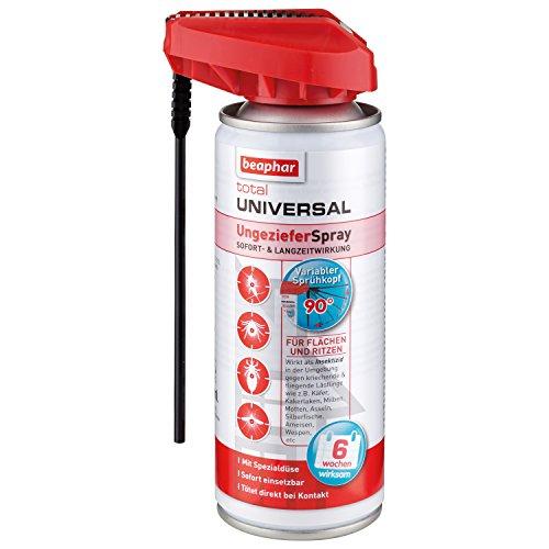 Total Universal UngezieferSpray | Wirkt sofort abtötend gegen Insekten | Für Tierumfeld, Haushalt, Garten | 6 Wochen Schutz | Mit Zielstab | 200 ml