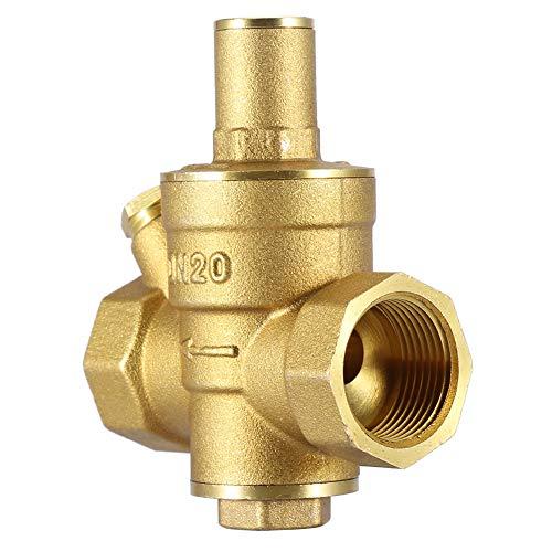 Druckminderventil, DN20 3 / 4inch Messing Wasserdruckminderventil 3/4 '' 1.6MPa Einstellbarer Wasserdruckregler Ventilgewinde
