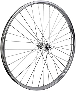 WheelMaster Front Bicycle Wheel 26 x 1.75/2.125 (ISO 559) 36H, Steel, Bolt On, Silver, 3/8