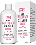M3 Naturals Hair Growth Shampoo for Women with Argan Oil, Biotin, and Collagen - DHT Blocking Hair Loss Treatment for...