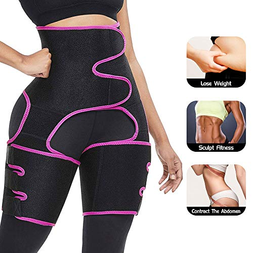 ROSRAN Waist and ThighTrainer for Women Thigh Shaper High Waist Ultra Light Thigh Trimmer Butt Lifter Shapewear and Hips Belt - Best Abdominal Trainer Pink 2XL/3XL