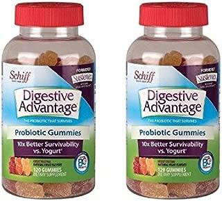 Schiff Digestive Advantage Probiotic Gummies, 120 Count, Pack of 2