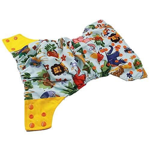 AILEE Baby Stoffwindelüberzug, waschbar, wiederverwendbar, Windel-Kostüm, Jungen, Mädchen, Baby Stoffwindel, Hose, Bezug verstellbar
