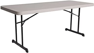 Lifetime 80126 Professional Folding Table, Putty, 6 ft