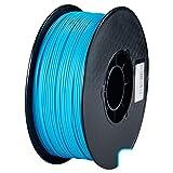 QDTDe 3D Pla Filamento Pluma Recargas 1,75 mm PrecisióN ± 0,02 100% Ninguna Burbuja De 1 kg 2,2 Libras Sin Olores Y FáCil De Pelar Filamento for La MayoríA De Impre(Color:Cielo Azul)