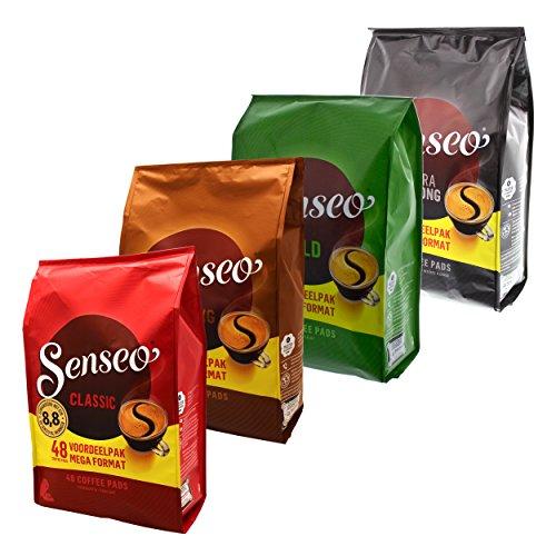 Senseo Hamsterkauf Set1, Notfall Vorrats Pack, Kaffeepads, 4 Sorten, 192 Pads / Portionen