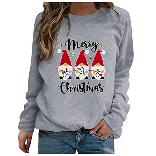 Weihnachten Oversize Shirt Damen Vintage Cut Out Shirt Damen Bluse gestreift Damen einfarbige t Shirts Damen t-Shirts für Damen sexy Kleid mintgrün Pullover Damen Langarm Shirt mit Knopfleiste Damen